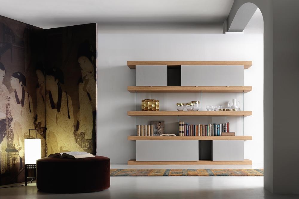 Libreria F2/ F. Line 2400 con contenitori