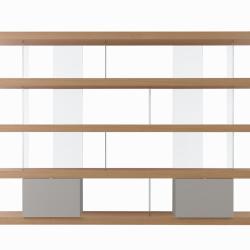 Libreria F2/ F. Line 3000 con contenitori